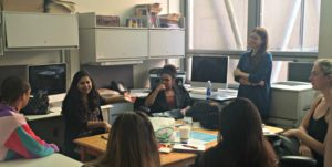 Anjali Mullany meets with the New School Free Press staff.